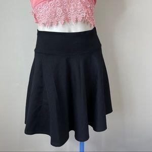 CONTEMPO CASUALS swing skirt black L women's